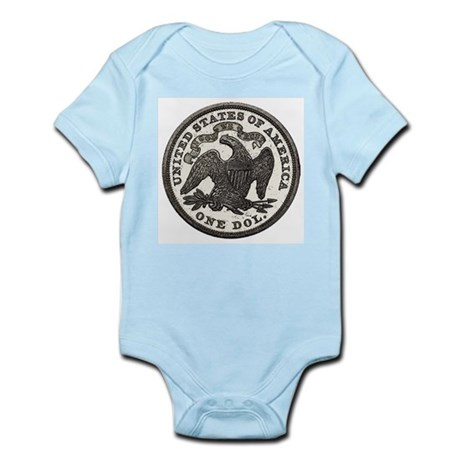 Seated Liberty Reverse Infant Creeper