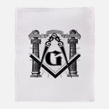 Cute Freemason Throw Blanket