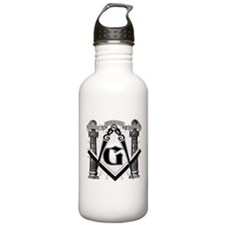 Funny Square and compasses Water Bottle