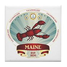 Maine Lobster Crest Tile Coaster