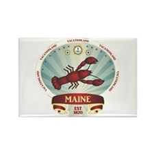 Maine Lobster Crest Rectangle Magnet