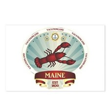 Maine Lobster Crest Postcards (Package of 8)