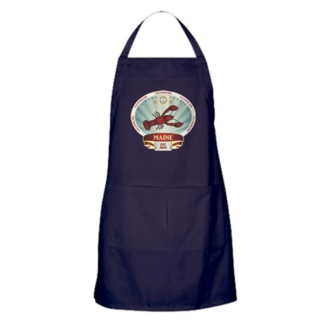 Maine Lobster Crest Apron (dark)