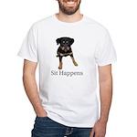 Sit Happens White T-Shirt