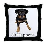 Sit Happens Throw Pillow