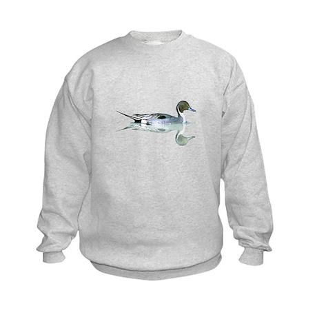 Pintail Drake Reflection Kids Sweatshirt