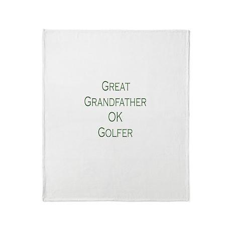 Great Grandfather Ok Golfer Throw Blanket