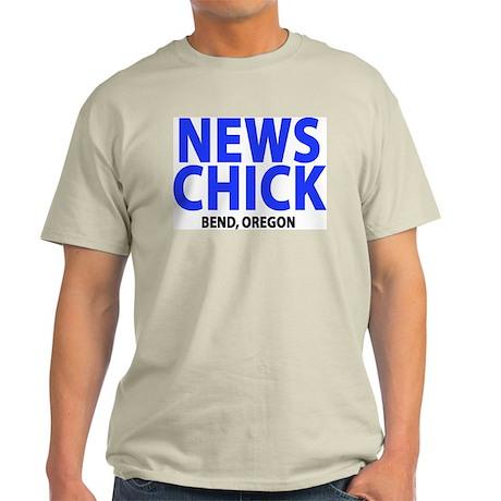 News Chick Bend Oregon Ash Grey T-Shirt