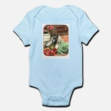 Adorable Puppy Holiday Gift Infant Bodysuit