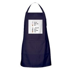 IF YOU LIGHT UP YOU BURN OUT Apron (dark)