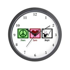 Peace Love Magic Wall Clock