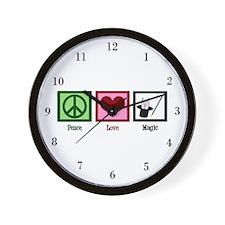 Peace Love Magic Wall Clock