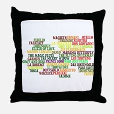 Operas Throw Pillow