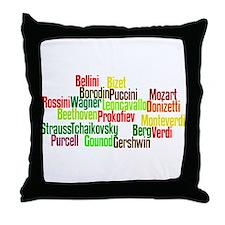 Opera Composers Throw Pillow