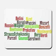 Opera Composers Mousepad