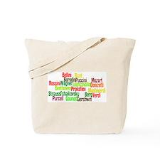 Opera Composers Tote Bag