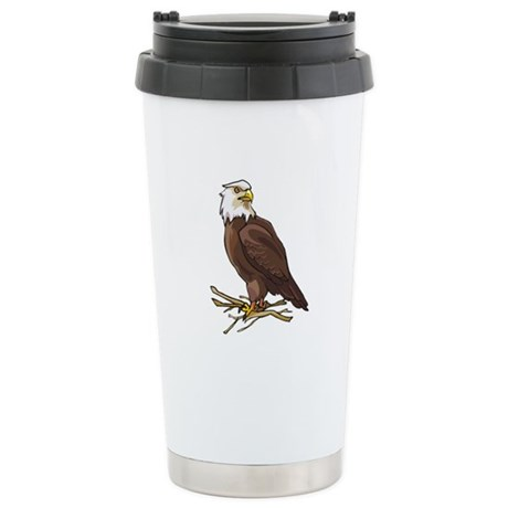 Bald Eagle Stainless Steel Travel Mug
