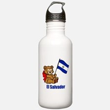 El Salvador Teddy Bear Water Bottle