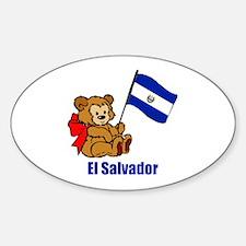 El Salvador Teddy Bear Decal