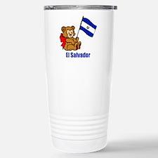 El Salvador Teddy Bear Stainless Steel Travel Mug