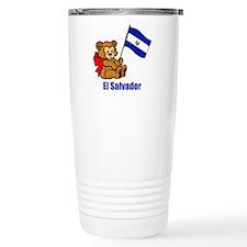 El Salvador Teddy Bear Travel Mug