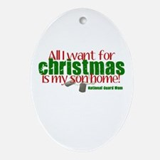All I want Son NG Mom Ornament (Oval)