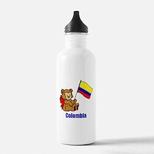 Colombia Teddy Bear Sports Water Bottle