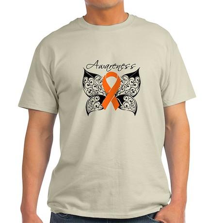Leukemia Awareness Butterfly Light T-Shirt