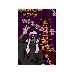 MacRatLove in Tokyo Rectangle Magnet (10 pack)