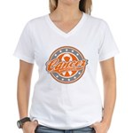 Leukemia Cancer Survivor Women's V-Neck T-Shirt