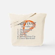 Leukemia Survivor Definition Tote Bag