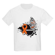Butterfly Survivor Leukemia T-Shirt