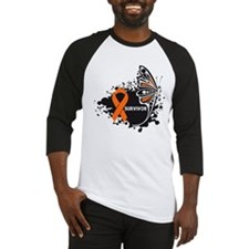 Butterfly Survivor Leukemia Baseball Jersey