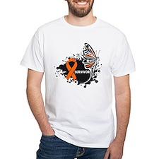 Butterfly Survivor Leukemia Shirt