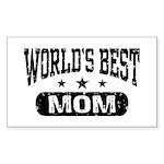 World's Best Mom Sticker (Rectangle)