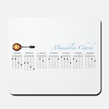 Mandolin Major Chords Mousepad
