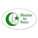 Muslims for Peace oval bumper sticker