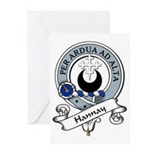 Hannay Clan Badge Greeting Cards (Pk of 10)