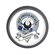 Hannay Clan Badge Wall Clock
