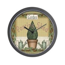 Potting Shed Garden Wall Clock
