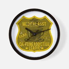 Medical Asst Caffeine Addiction Wall Clock