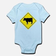 Cattle Crossing Sign Infant Bodysuit