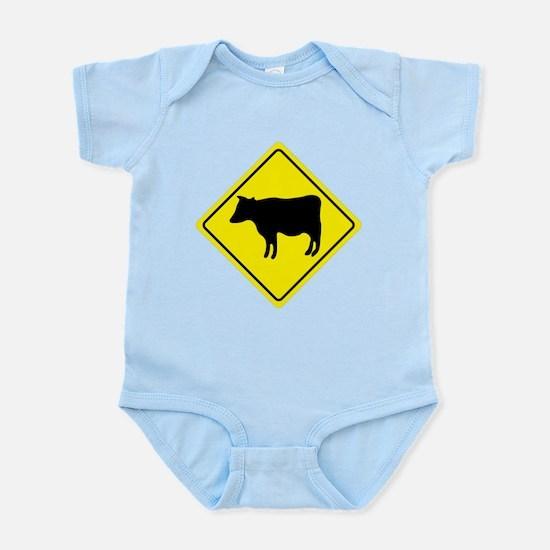 Cattle Crossing Sign Infant Bodysuit
