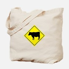 Cattle Crossing Sign Tote Bag