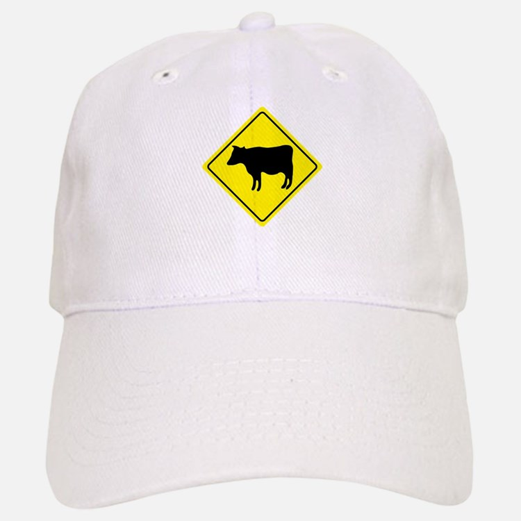 Cattle Crossing Sign Baseball Baseball Cap