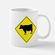 Cattle Crossing Sign Mug