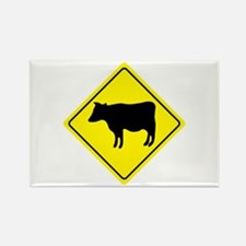 Cattle Crossing Sign Rectangle Magnet