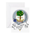 Hamilton Clan Badge Greeting Cards (Pk of 10)