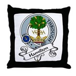 Hamilton Clan Badge Throw Pillow