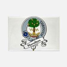 Hamilton Clan Badge Rectangle Magnet (10 pack)